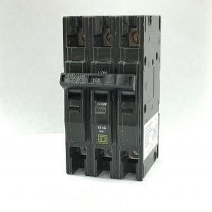 100A 125/250V 3-Pole Square D Circuit Breaker