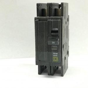 30A 125/250V 2-Pole Square D Circuit Breaker