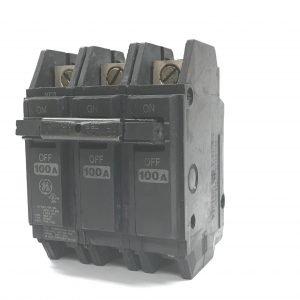 100A 125/250V 3 Pole GE Circuit Breaker