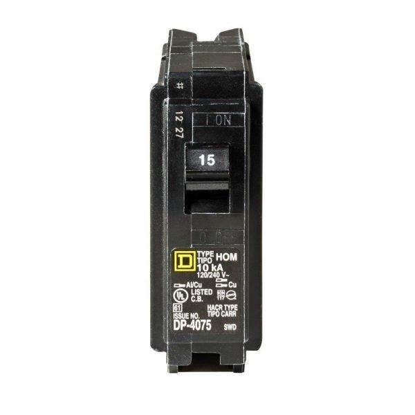 15A 125V 1-Pole (Square D)